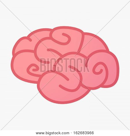Isolated Brain With A Dharma Chakra Sign
