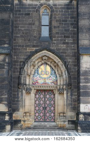 Entrance To The Basilica Of St Peter And St Paul. Prague