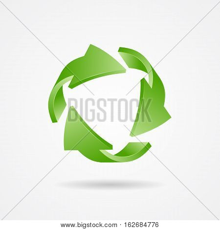 Recycle symbol recycle logo ecology logo with green arrow