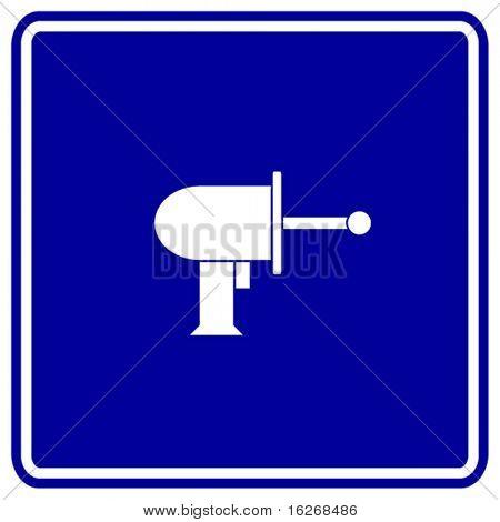laser gun sign