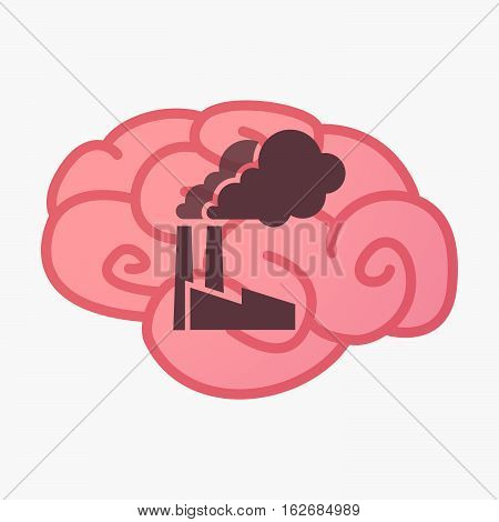 Isolated Brain With A Factory