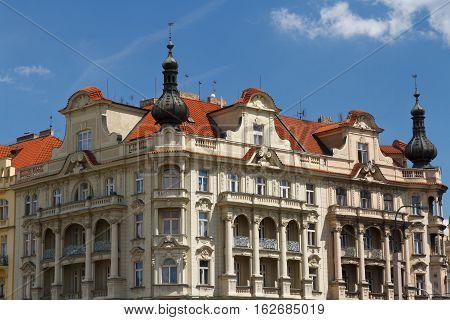 Beautiful Building Located Down Jiraskovo Namesti In Prague
