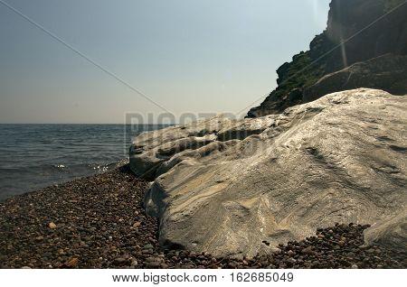 Baikal landscape with mountains, Russia Siberia Baikal
