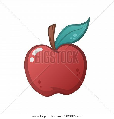 Red apple icon. Apple illustration on the white background