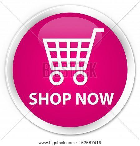 Shop Now Premium Pink Round Button