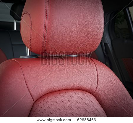 Modern Sport Car  Red Leather Interior