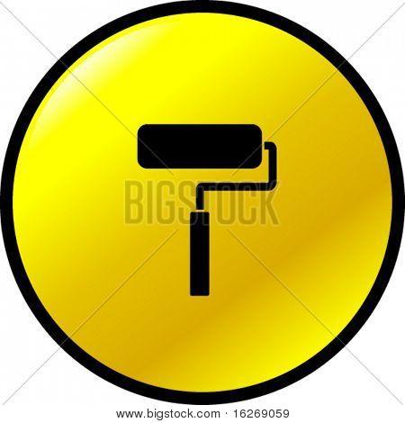 paint roller button