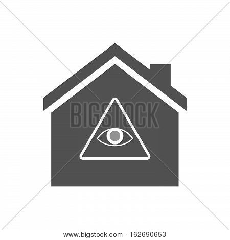 Isolated House With An All Seeing Eye