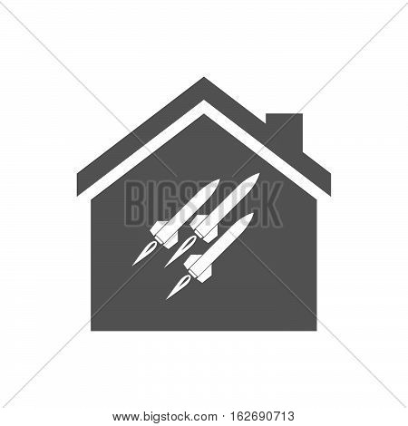 Isolated House With Missiles