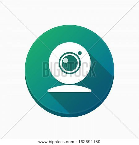 Isolated Button With A Web Cam