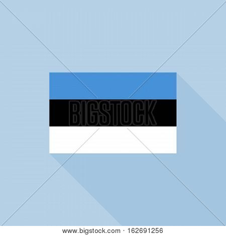 Estonia flag , flat design vector with official proportion