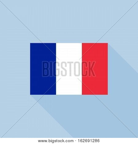 France flag , flat design vector with official proportion