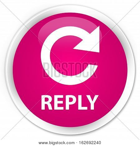 Reply (rotate Arrow Icon) Premium Pink Round Button