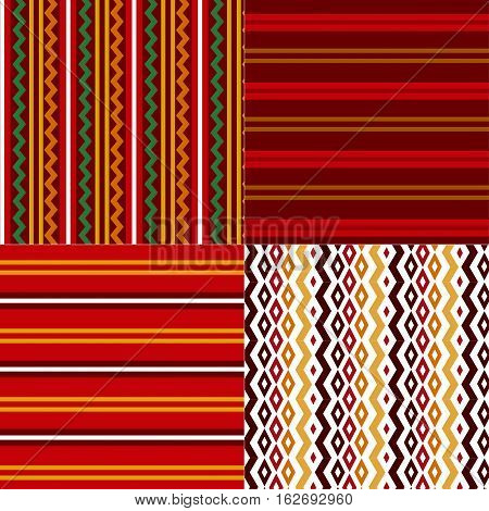 folk style Bulgarian simple traditional seamless pattern