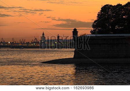 Peter and Paul Fortress is located in St. Petersburg. The fortress stands on the River Neva