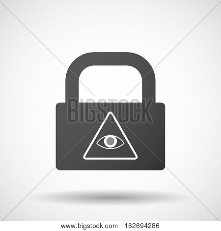 Isolated Lock Pad With An All Seeing Eye
