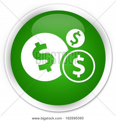 Finances (dollar Sign) Icon Premium Green Round Button