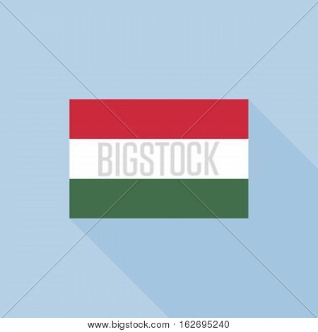 Hungary flag , flat design vector with official proportion