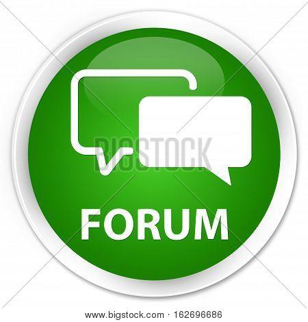 Forum Premium Green Round Button