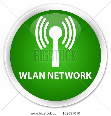 Wlan Network Premium Green Round Button