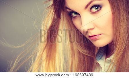 Stylish Attractive Woman Portrait.
