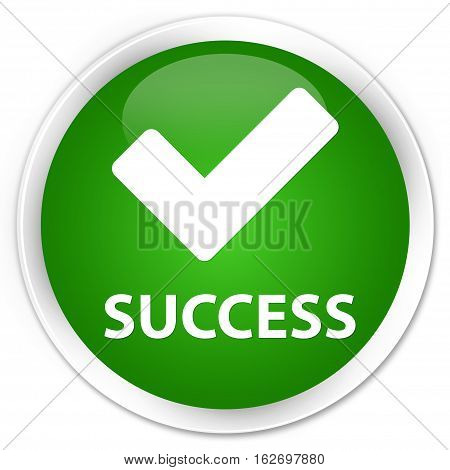 Success (validate Icon) Premium Green Round Button