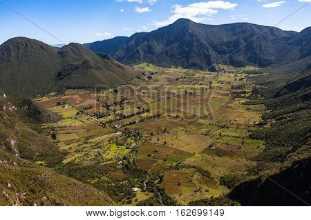 Pululahua the only active volcanic crater where farmers live and work Ecuador