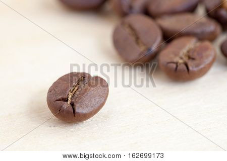 A close up of the coffee bean