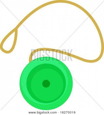 green yo-yo toy