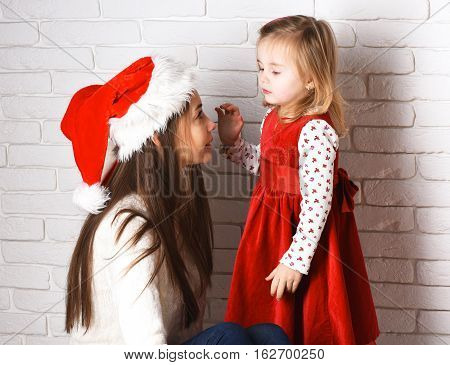 Young Cute Girl With Mother