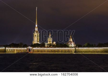 Peter And Paul Fortress, Night Scene