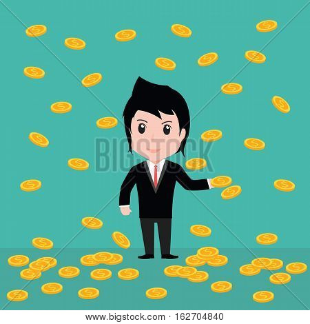 Many Coins, Business Man Have Many Coins