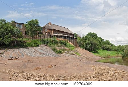 STEELPOORT, SOUTH AFRICA-NOVEMBER 05, 2016: Bonamanzi Guest House on the banks of the Steelpoort River, South Africa