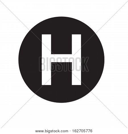 hospital icon on a white background. hospital sign.