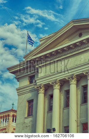In Greece   Antique Historical  Window
