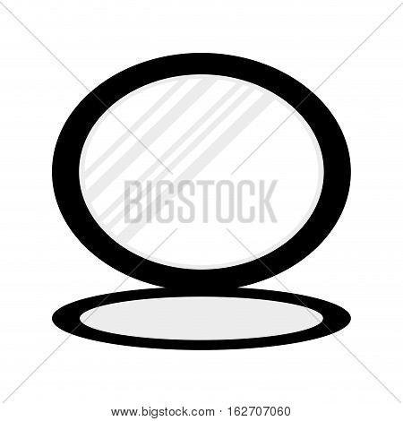 small mirror icon image vector illustration design