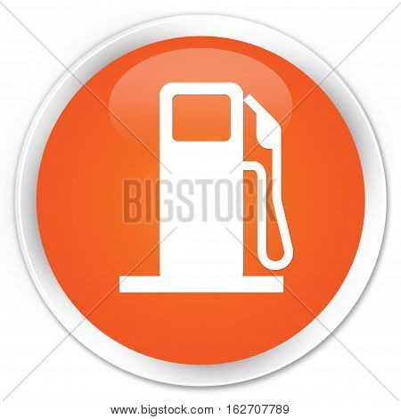 Fuel Dispenser Icon Premium Orange Round Button