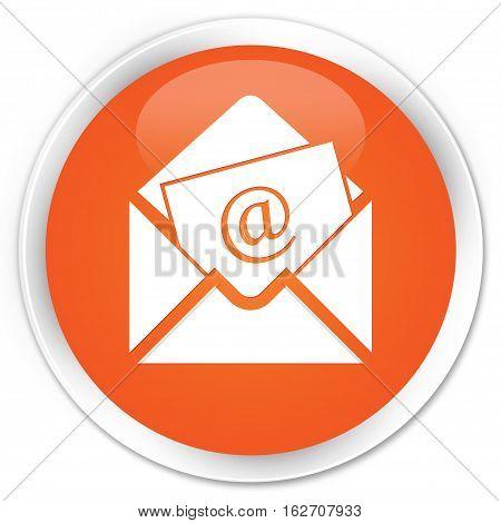 Newsletter Email Icon Premium Orange Round Button