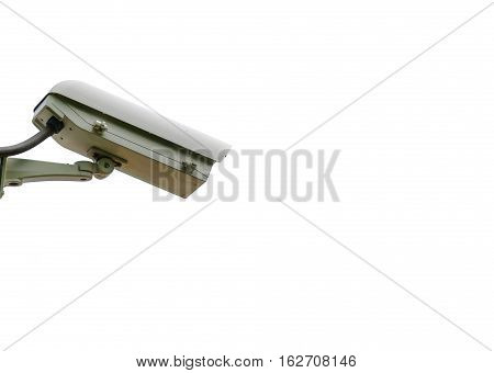 Closed circuit camera isolated on white background.