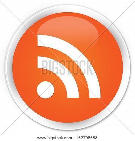 Rss Icon Premium Orange Round Button
