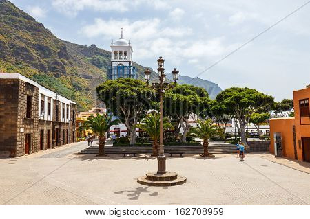 Garachico, Tenerife Island, Spain, 08 June 2015: Street Of Garachico Town On Tenerife Island, Canary