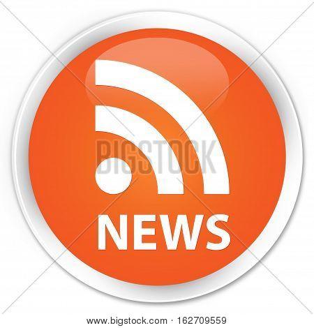 News (rss Icon) Premium Orange Round Button