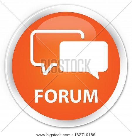 Forum Premium Orange Round Button