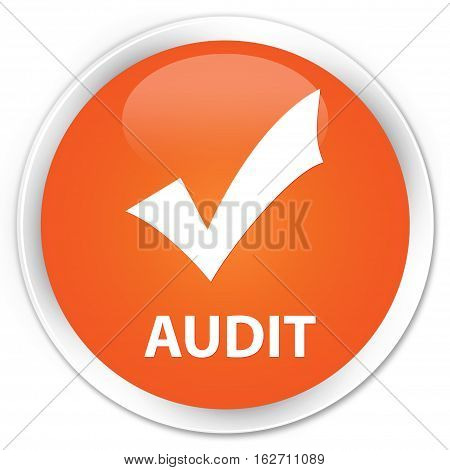 Audit (validate Icon) Premium Orange Round Button
