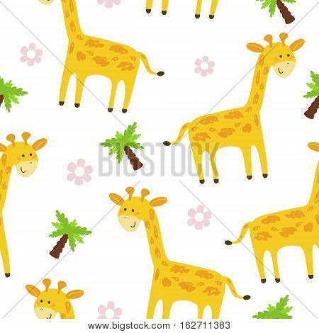 Cute giraffe Pattern print for kids. Printable templates.