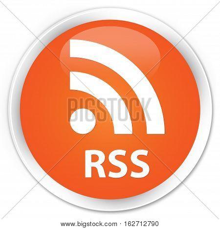 Rss Premium Orange Round Button
