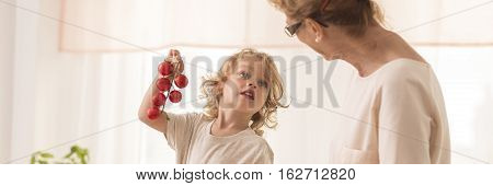 Little Child With Grandmother