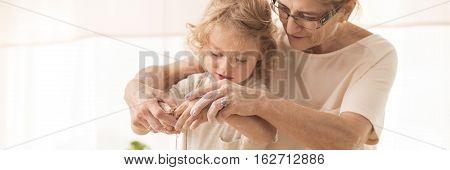 Little Boy With Grandma