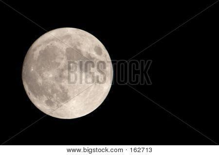 Our Moon With Negative Space