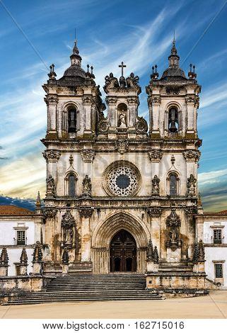 Church Alcobaca monastery is a Mediaeval Roman Catholic Monastery, Alcobaca, Portugal